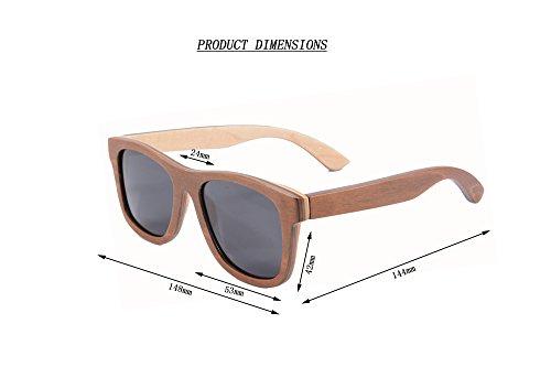 6000ffca25 Handmade Wooden Sunglasses Wayfarer Bamboo Wood Sunglasses Polarized with  Case- Z68004