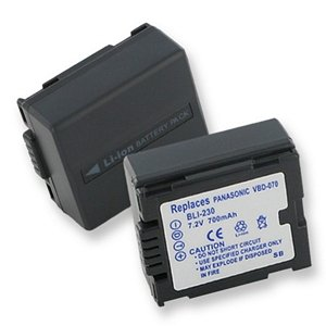 Camcorder Battery Gs33 (Panasonic PV-GS33 Flashlight Battery (Li-Ion 7.2V 700mAh) - Replacement For Panasonic CGA-DU07 Camcorder Battery)