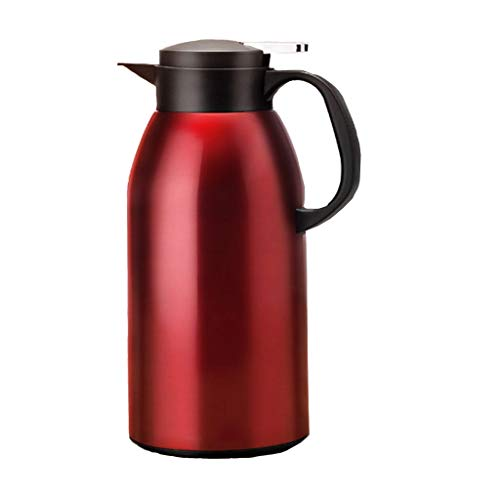 MGE UPS Systems Insulation Pot Chinese Stainless Steel Glass Liner Thermos Anti-Skid Anti-Slip Bottom Moisturizing Cold for Hot Coffee. Water. Beverage (Pomegranate Red) (Size : C)