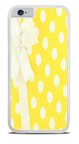 White and Yellow Polka Dots Wrapped Present With Bow White Hardshell Case for iPhone 6S (4.7) by Debbie's Designs