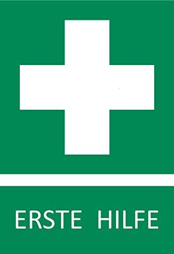 Erste hilfe symbol  5 Aufkleber Erste Hilfe Schild Zeichen (wetterfest), 10,5 x 14,8 ...