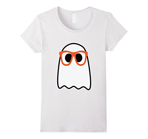 Womens Nerdy Ghost Halloween Hipster Costume T-Shirt Large - Female Nerdy Halloween Costumes