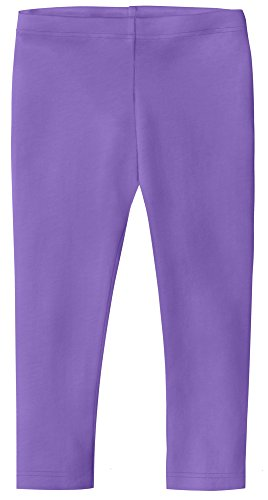 (Big Girls' Cotton Cropped Capri Legging For Summer, Play and School, Medium Purple, 7)