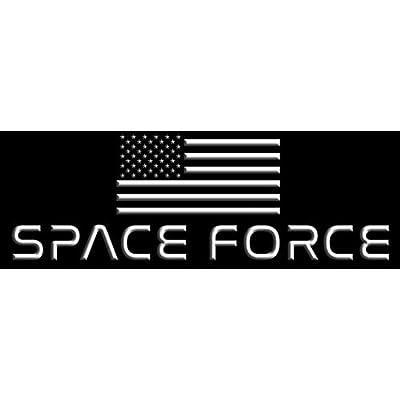 American Vinyl Black Space Force Bumper Sticker (dept Trump NASA USA Flag): Automotive