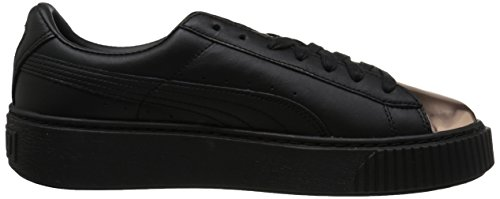 PUMA Women's Basket Platform Metallic Fashion Sneaker Puma Black Rose Gold outlet cheap price 8xu5NnuQ4T