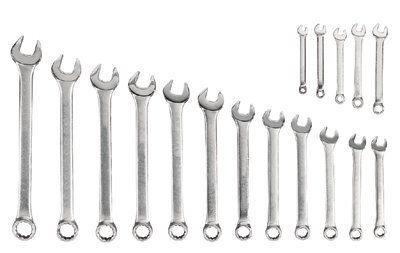 Blackhawk By Proto MF-017 12 Point Combination Wrench Set, Satin Finish, 17-Piece