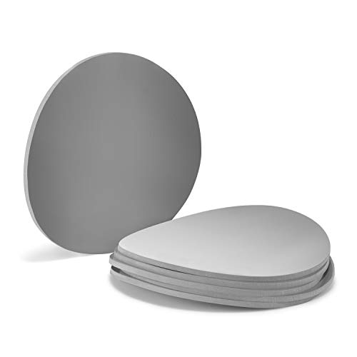 Silicone Mason Jar Lid, Writable, Set of 6, Fits all Regular Mouth Mason Jars (Grey, Regular Mouth)]()