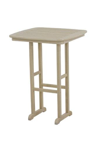 (POLYWOOD NCBT31SA Nautical Bar Table, 31-Inch, Sand)