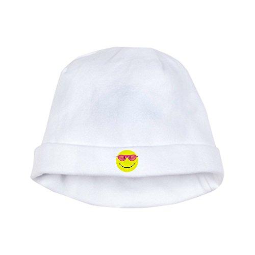 Royal Lion Baby Hat Neon Yellow Smiley Face Sunglasses - Cloud - Glasses Cloud White