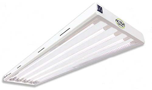 Active Grow T5 LED Grow Light Fixture for Indoor Gardens, Hydroponics & Vertical Racks - Contains (4) 24W T5 HO 4FT LED Tubes - Sun White Full Spectrum (High CRI 95) - 120V - UL Marked