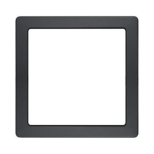 Recessed Trim Matt - AVANLO Matt Black Trim (Lamp Body Not Included), for 9 Inch Square LED Ceiling Light Fixture Disk Light and Flush Mount Downlight Panel Light, 1 Pack