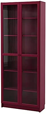 factory price 578ab bd42b Amazon.com: IKEA.. 803.856.16 Billy Bookcase with Glass ...