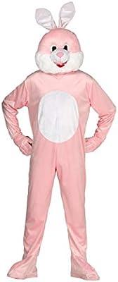 54c13a75f8d485 Guirca Costume da Coniglio Adulto, Colore Rosa E Bianco, L, 88184 ...