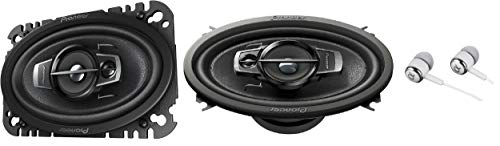 "Pioneer 4"" X 6"" 200 Watts Max 3-Way A-Series Car Audio Coaxial Speakers with Carbon and Mica Reinforced IMPP Woofer"