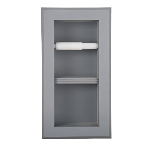 WG Wood Products Series Recessed Double TP Holder-Multiple Finishes, Primed