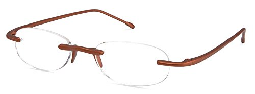 Scojo Gels Readers Reading Glasses (Metallic Bronze, +2.25 Magnification Power)