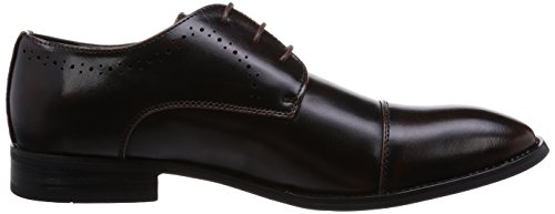 Mm / One Mens Oxford Lace-up Straight Tip Schoenen Medaillon Zwart Bruin Donkerbruin Donkerbruin
