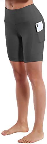 BUBBLELIME 2.5//8 Stretch Yoga Shorts for Women with Out Pockets Tummy Control Moisture Wicking Workout Running Shorts