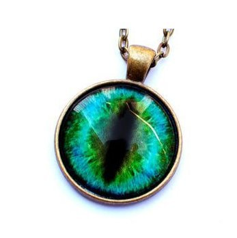 Green cat eye necklace eyeball necklace eye pendant cat green cat eye necklace eyeball necklace eye pendant cat necklace aloadofball Image collections
