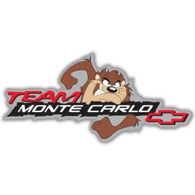 - Chevrolet Team Monte Carlo racing Vynil Car Sticker Decal - Select Size