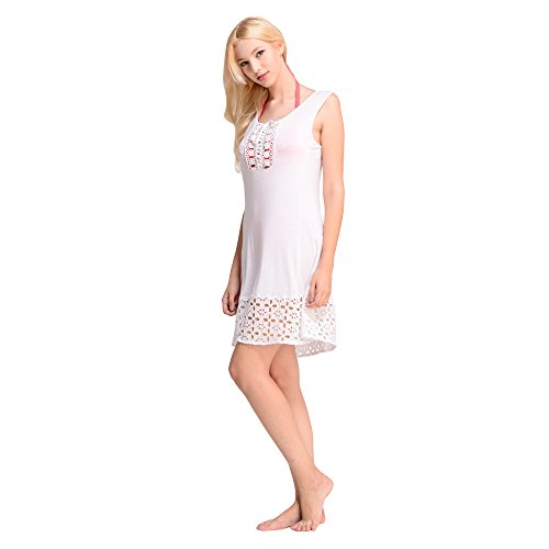 Waikiki Line flower lace dress beach swimsuit coverup