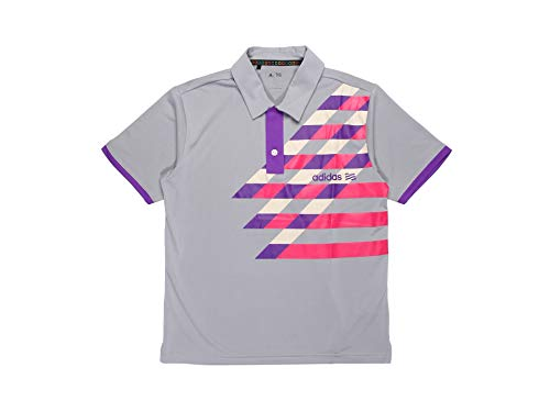 (Adidas Taylormade Youth Front Pocket Graphic Print Polo Shirt (M, Zone/Purple/Bright Pink/Ecru))