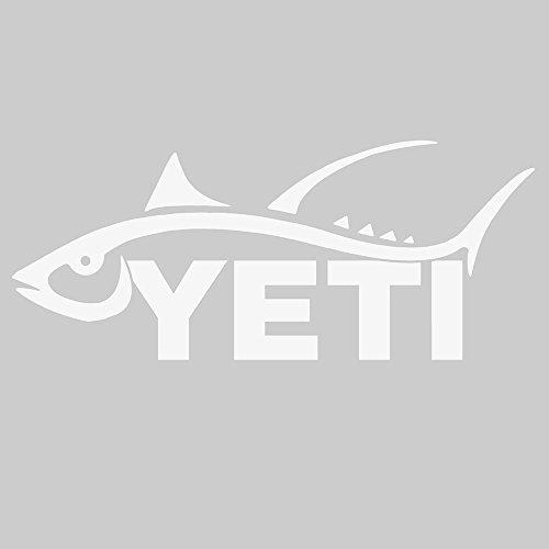 YETI Sportsman's Decal Tuna White
