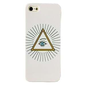 MOM Punk Triangle Eye Sunshine Pattern TPU Soft Case for iPhone 5/5S