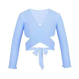 iiniim - Vestido de Ballet clásico de Malla para niñas con Manga ...