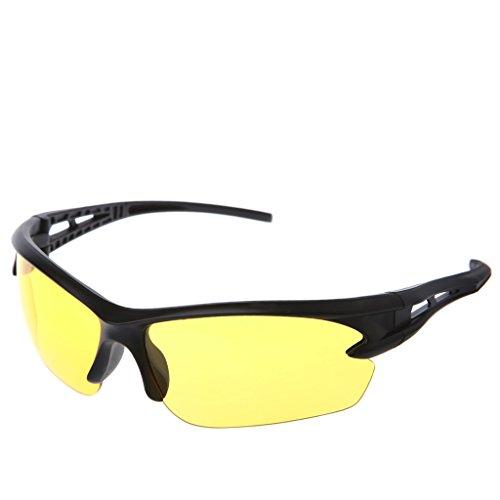 - Shoresu Motorcycle Ski Snowboard Dustproof Sunglasses Eye Glasses Lens Frame Goggles Night Vision Yellow