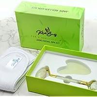 Kkoch Beauty Jade Face Roller and Gua Sha Stone Massage Tool Set - Facial Skin Care Massager for Women - Beauty…