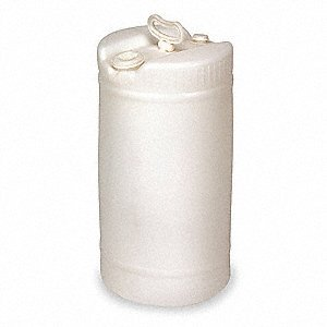 (15 Gallon White Plastic Barrel, Great as a Water Barrel or Other Liquid Container, Food Grade Material)