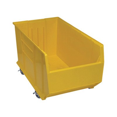 Quantum QUS996MOB Plastic Storage Stacking Hulk Container, 36-Inch by 19-Inch by 20-Inch, Yellow, Case of 1 by Quantum Storage Systems B004HL236M