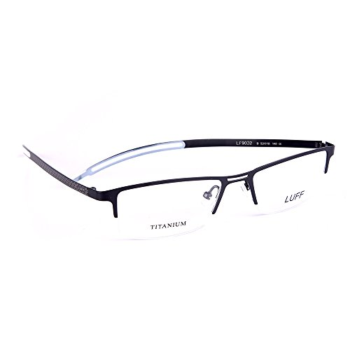 Half-rimless Pure Titanium Eyewear LUFF Men's Business Glasses