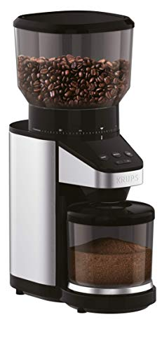 KRUPS GX420851, Coffee Grinder with Scale, 39 grind settings, large 14 oz capacity, intuitive interface, Black