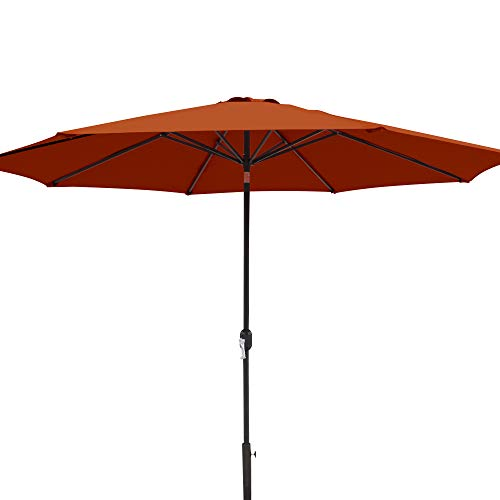 Island Umbrella NU5450TC Calypso Patio Market Umbrella, Terra Cotta