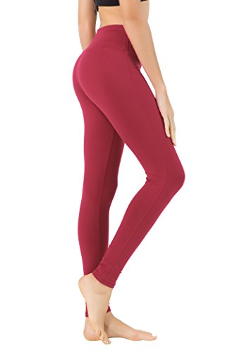 Queenie Ke Women Power Flex Yoga Pants Workout Running Leggings Size XS Color Red Long