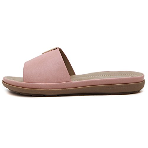 Btrada Women Fashion Metal Sandals Anti-Slip Outdoor Summer Beach Shoes Pink TdE37jjCOE