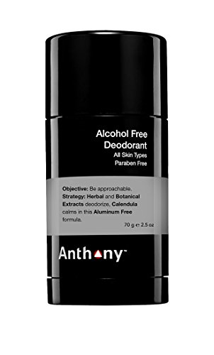 Anthony Alcohol Free Deodorant, 2.5 oz.