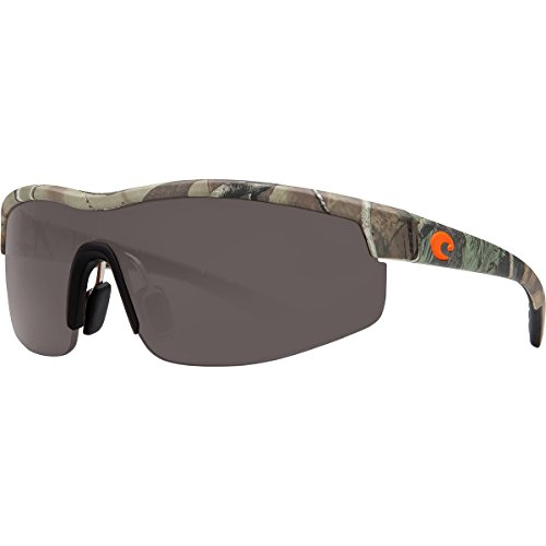 Costa Del Mar Straits Sunglasses, Realtree Xtra Camo, Gray 580 Plastic - Mar Glasses Camo Del Costa
