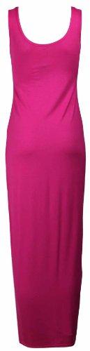 Maxi Manche Purple Extensible Pleine Longueur Col Hanger Longue Neuf Rond Robe Uni Sans Cerise t Femme xrqRPrwYg