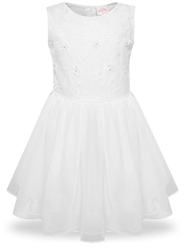 Bonny Billy Big Girls Clothing Fancy Christening Dress Size 10 White