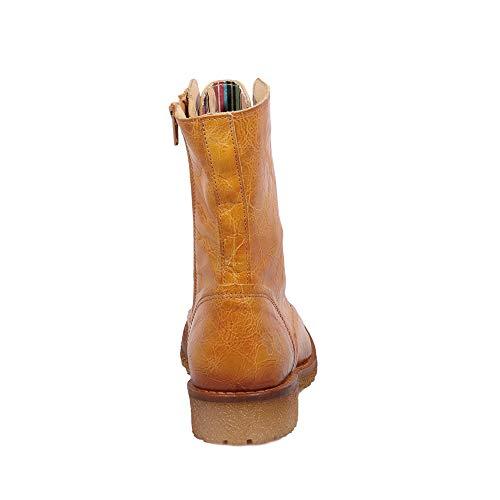 Giallo B501 Felmini Genuina Caster Stivali Scarpe Com Donna Pelle amp; Biker In Innamorarsi Cowboy xWcqOU1qr