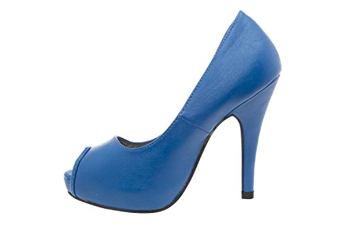 Scarpe Andres Machado Blau2 con donna Blu plateau FvHqvz