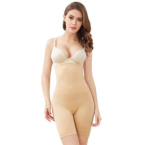 Women Shapewear Bodysuit,St.Dona Women's Hi-Waist Body Shaper Butt Lifter Shapewear Trainer Tummy Control Panties Beige ()