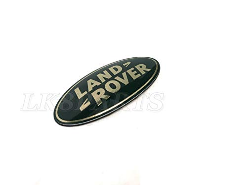 Proper Spec Land Rover Green and Gold Front Grille Emblem Badge New