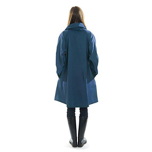 Mycra Pac Short Donatella Fashion Travel Raincoat (Extra Small, Sapphire) by Mycra Pac (Image #4)
