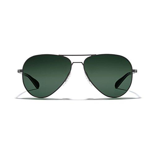 ROKA Phantom Alloy Sports Performance Aviator Polarized Sunglasses for Men and Women - Gunmetal Frame - Ranger (Polarized) Lens]()