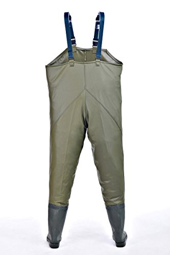 Hisea insulated waterproof breathable chest waders with for Fishing waders amazon