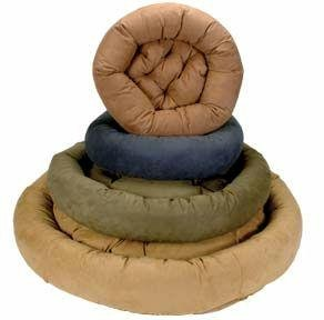 Snoozer Luxury Round Bolster Pet Bed, X-Large, Camel, My Pet Supplies